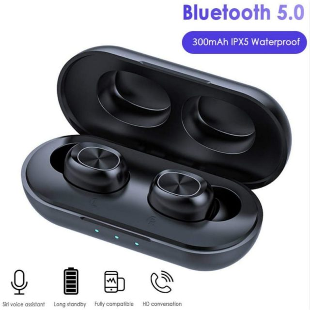 iPX5 Bluetooth Earphones Earbuds with Wireless Charging Waterproof