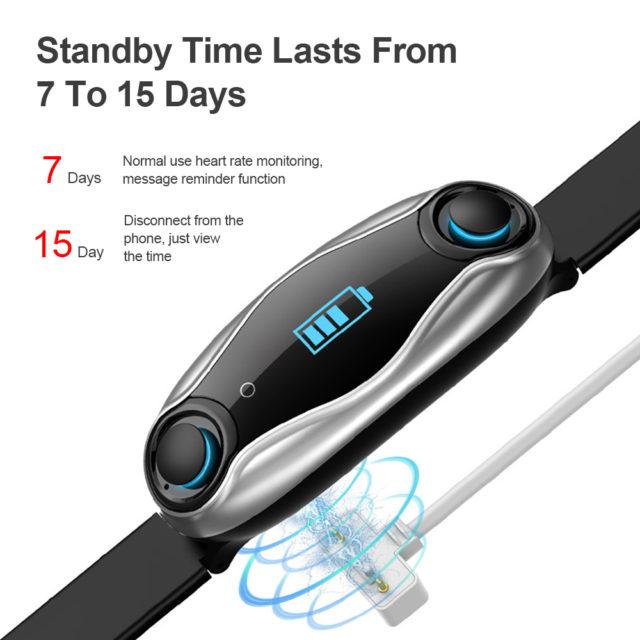 Bluetooth Earphone 2 In 1 Bluetooth 5.0 Chip IP67 Waterproof Sport Smart Watch