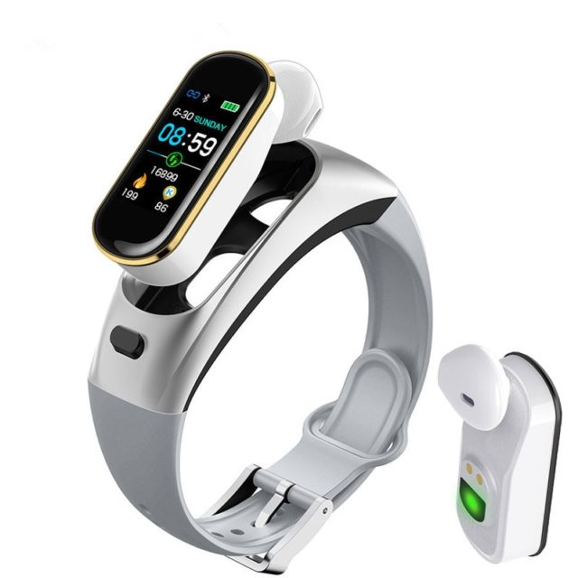 2-in-1 Sports Smart Watch Bluetooth Earphones Heart Rate Blood Pressure