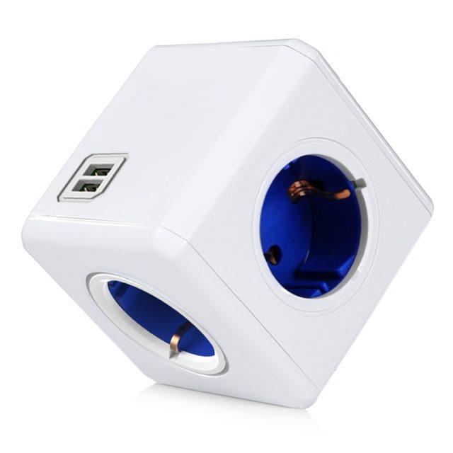 Cube Shaped EU Smart Plug x2 USB