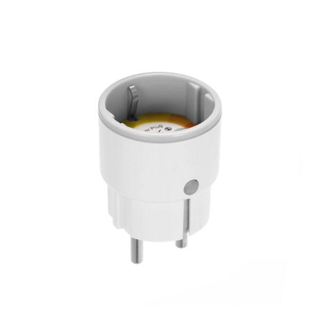 Round WiFi Smart Plug with Light 3680W Voice Control by Alexa Google
