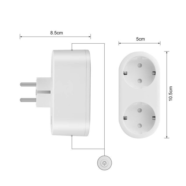 Double WiFi Smart Plug with Power Monitor Energy Saver Google Alexa