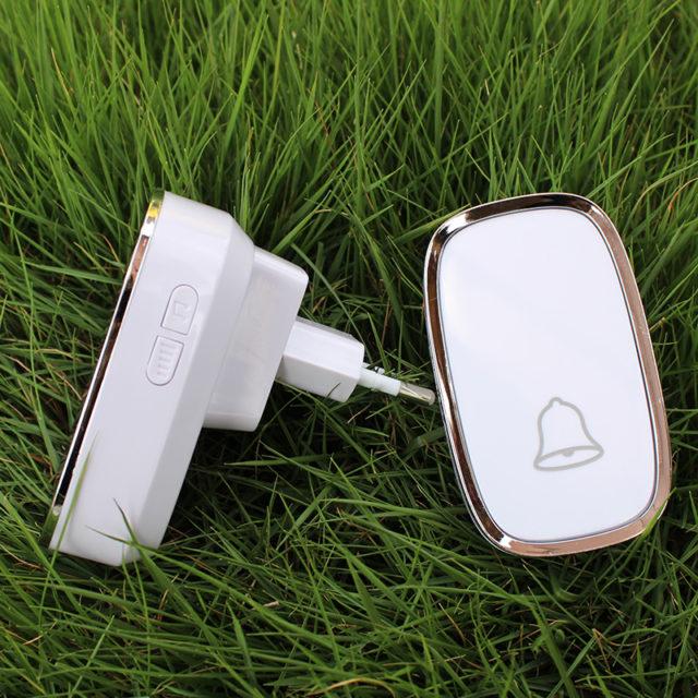 White EU/US Plug Wireless Smart Doorbell