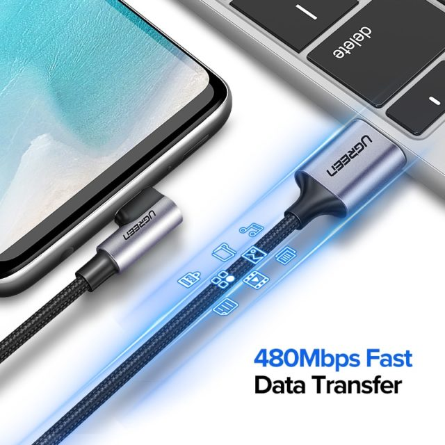 90 Degrees Type-C Cable for Phones