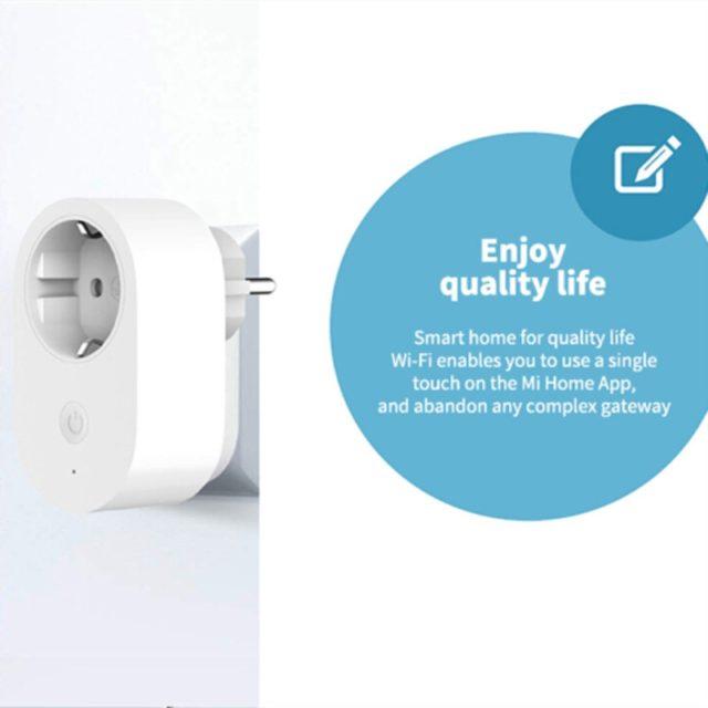 Xiaomi EU Smart Plug Remote Control Power-saving Works with Alexa/Google