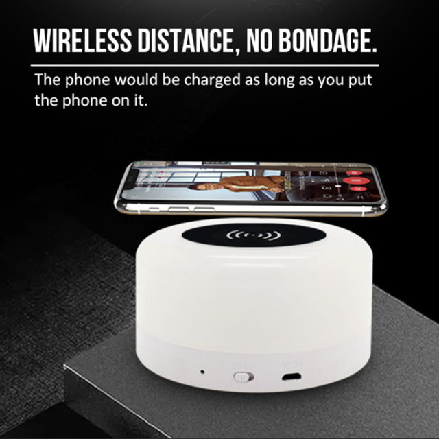 Multi-Function Lamp USB Rechargeable Wireless Charging for Mobile phone