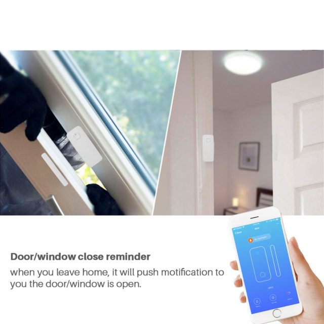WiFi Door Alarm Sensor Smart Home Security Amazon Alexa App Control