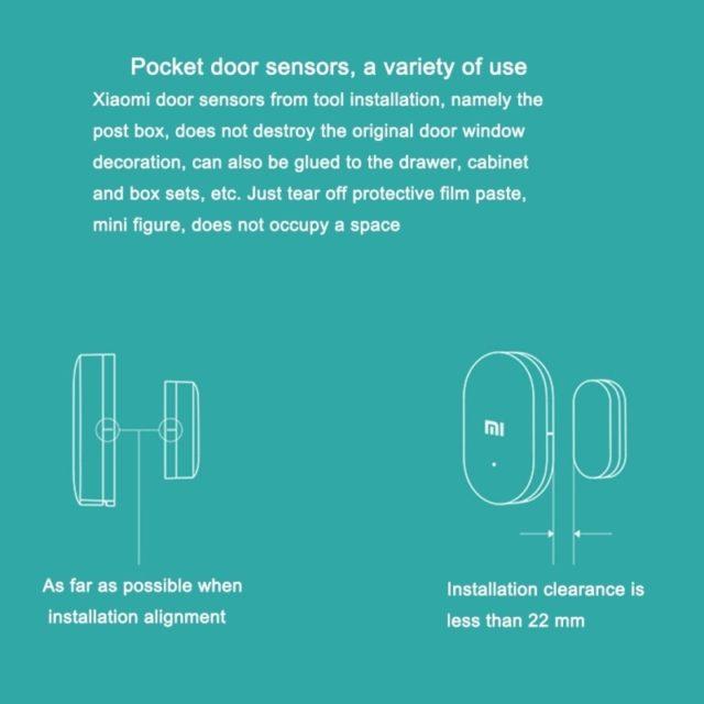 Xiaomi Door Window Intelligent Sensor control by Xiaomi Smart App