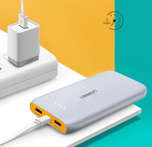Compact Power Bank Dual USB 10000 mAh 20000mAh Quick Charge 4.0 QC3.0