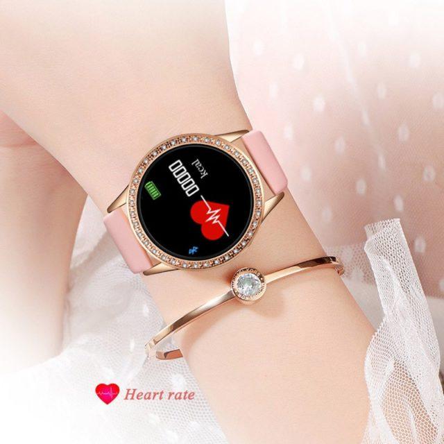 Ladies Smart Watch Women Blood Pressure Heart Rate Monitor Fitness tracker