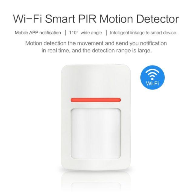 Smart WiFi Infrared Detectors Motion Sensor Alarm Compatible With Tuyasmart APP