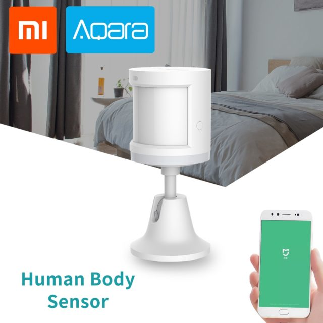 Xiaomi Mijia Aqara Human Body Sensor Smart Body Motion Sensor holder Security alarm System Wireless ZigBee MiHome APP Connection