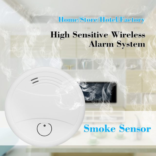Smart Smoke Detector Fire Alarm Security WiFi APP