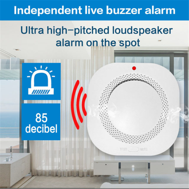 433MHz Wireless Independent Fire Detector Home Security APP