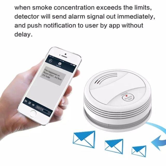 Wifi Smoke Detector Fire Alarm Tuya APP Control SmartHome
