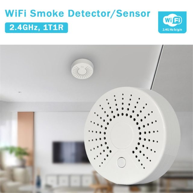 WiFi Smart Smoke Detector Temperature Detector APP Control