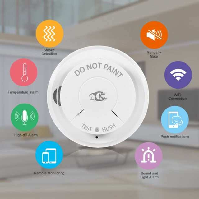 Wifi Smoke Detector Security System Smart Life Tuya APP Smart Home