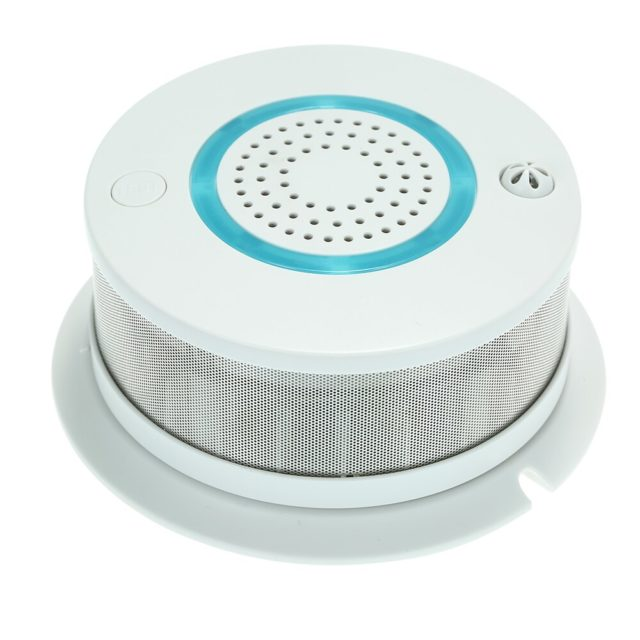 Smart WIFI Fire Smoke &amp Temperature Sensor Wireless Smoke Temperature Detector Alarm APP Control Home Security Alarm System