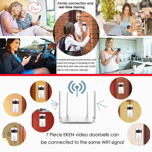 Smart WiFi Video Doorbell Camera Visual Intercom Night vision Home Security