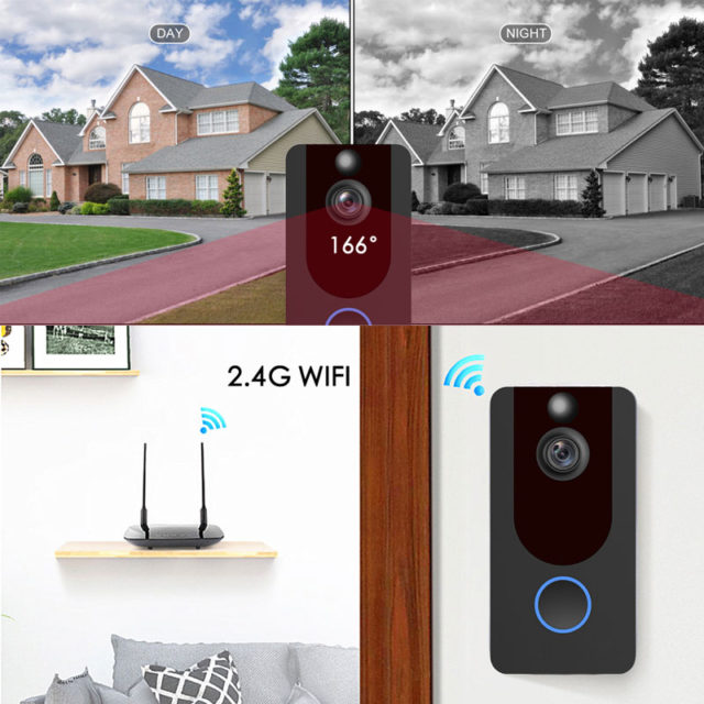 1080P Smart WiFi Video Doorbell Camera Night vision APP