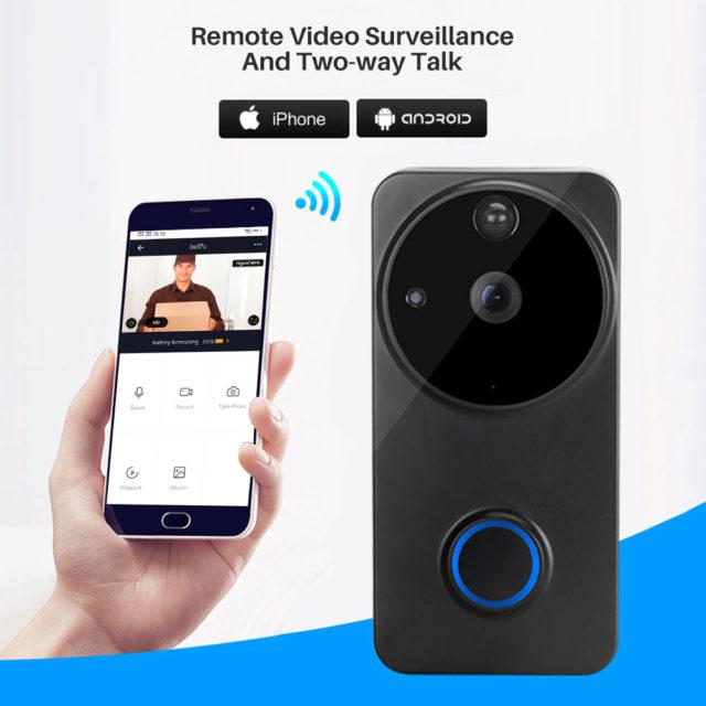 1080P wifi video doorbell Alexa Google Home IP54 Waterproof