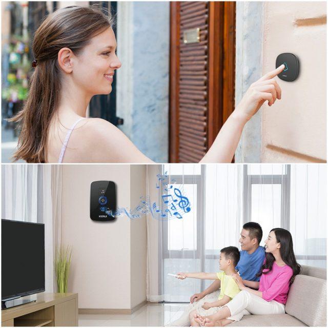 Home Security Wireless Doorbell Smart Doorbell Alarm 32 Songs Waterproof
