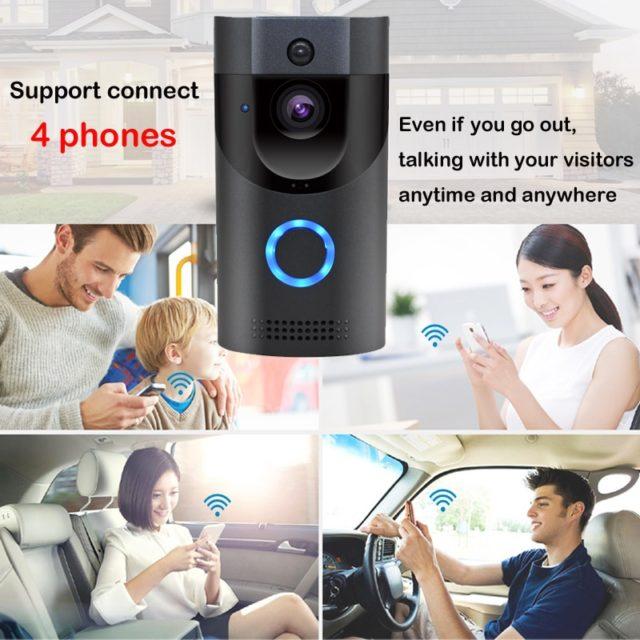WIFI Doorbell waterproof Night Vision Smart Door 720P App for 4phones
