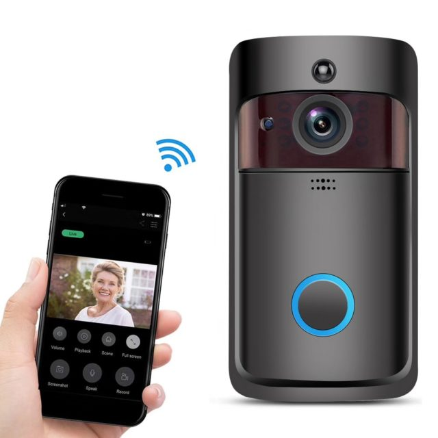 Doorbell V5 Black Smart WI-FI Video Door Phone For Apartments Security Camera