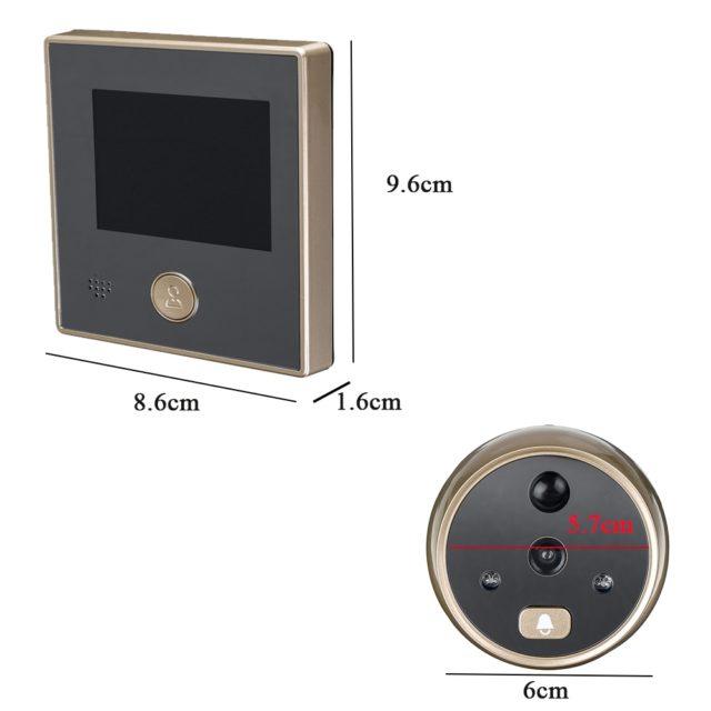 3 Inch LCD HD Digital Door Camera Eye Doorbell Move Detection