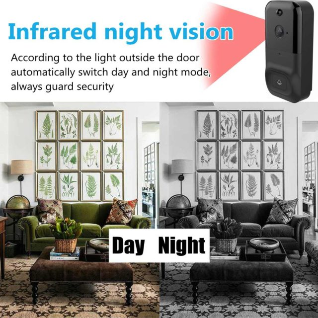 Wifi Doorbell Infrared Smart video chime Intercom HD 1080P