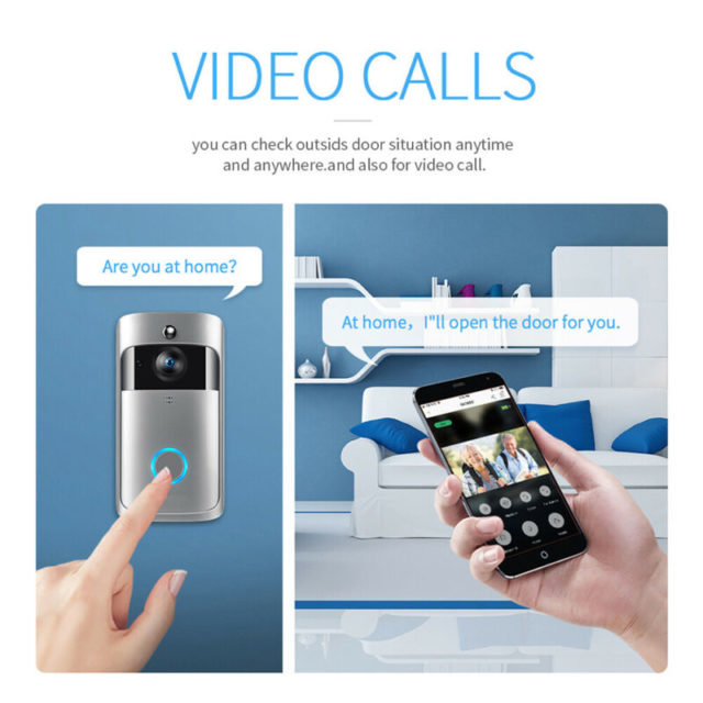 WiFi Wireless Video Doorbell Two-Way Talk Smart PIR SecurityHome Monitor Night Vision