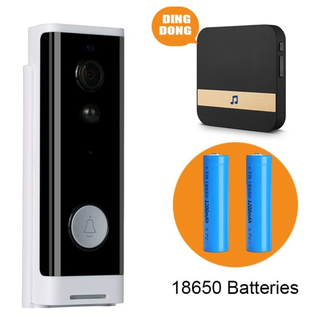 Smart Video Doorbell 1080P WiFi Video Intercom APP Control Alexa Google