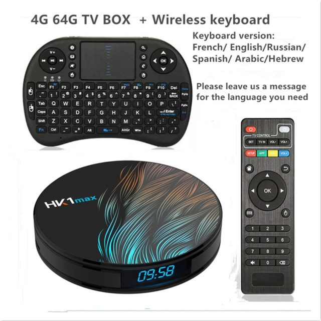Android 9.0 TV BOX 4K Youtube Google Assistant  4G 64G 3D TV receiver Wifi Play Store TV Box