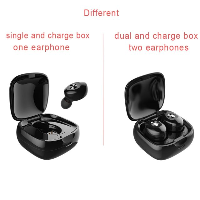 Bluetooth Mini Wireless Earphones Sport 3D Stereo Earbuds With Dual Microphone