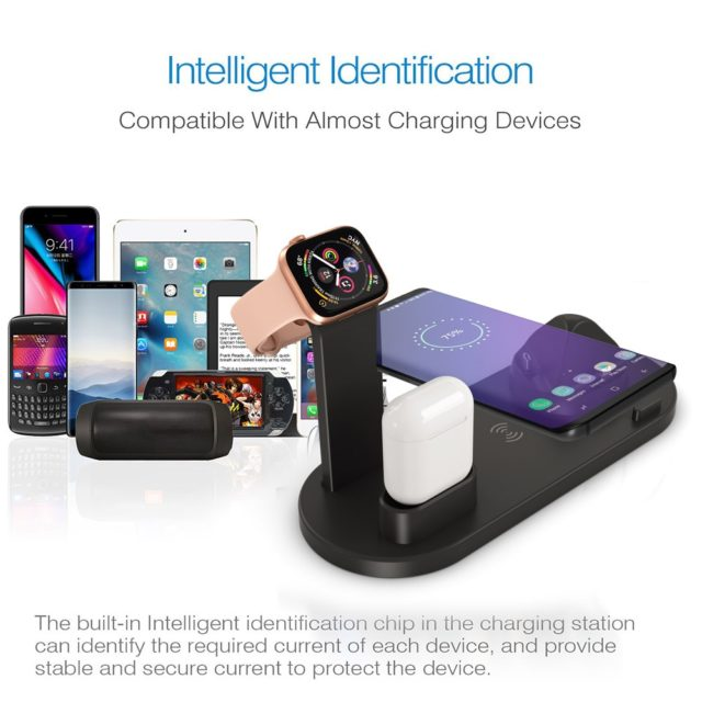 3 in 1 Charging Station For Apple Watch iPhone Airpods 10W Qi Samsung