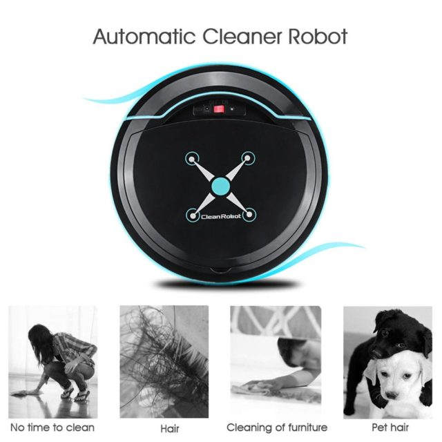 Automatic Smart Robot Vacuum Cleaner Small size USB Rechargeable