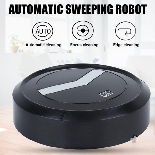 USB 2 In 1 Rechargeable Floor Automatic Smart Vacuum Cleaner Robot