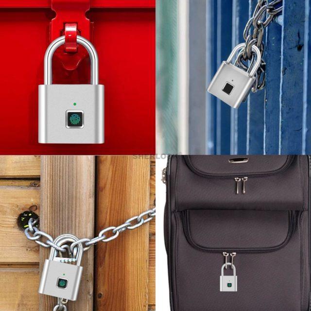 Security Door Lock Smart Keyless USB Rechargeable Fingerprint