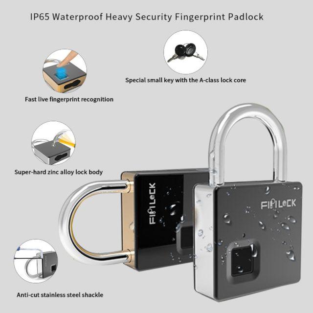 Smart Lock Keyless Fingerprint Waterproof Door Luggage Case Lock