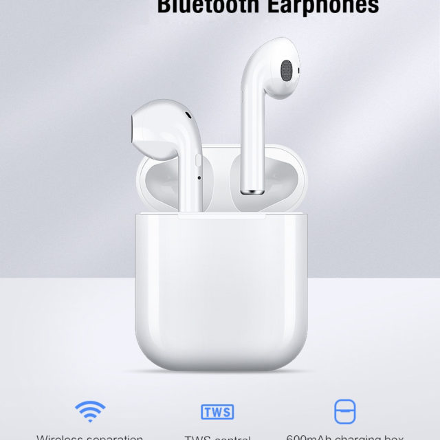Airpods Bluetooth 5.0 Earphone Mini Earbuds With Mic Charging Box