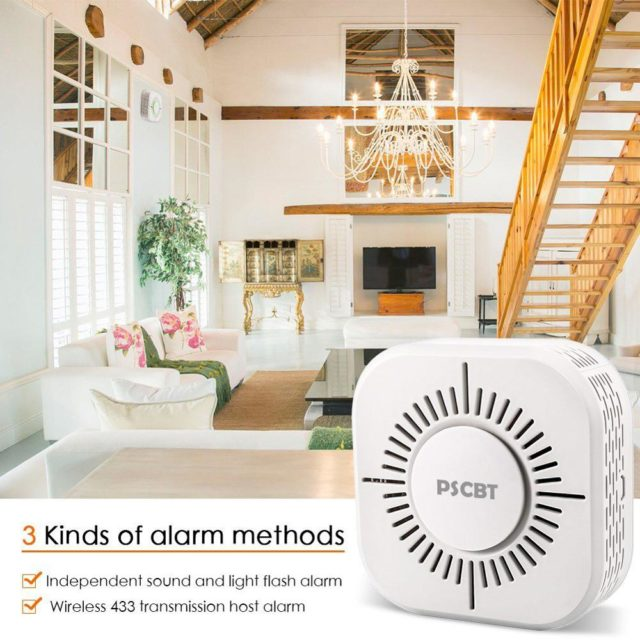 Smart Smoke Detector Wireless 433MHz Fire Security Alarm for Sonoff RF Bridge