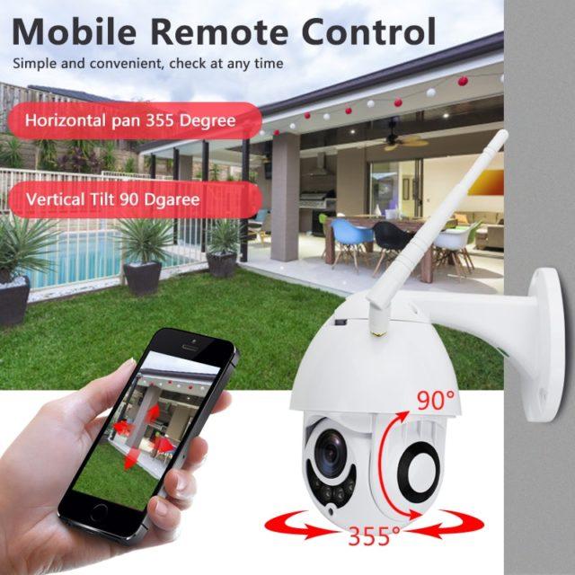 WIFI Camera Outdoor PTZ IP Camera 1080p Speed Dome CCTV Security Camera