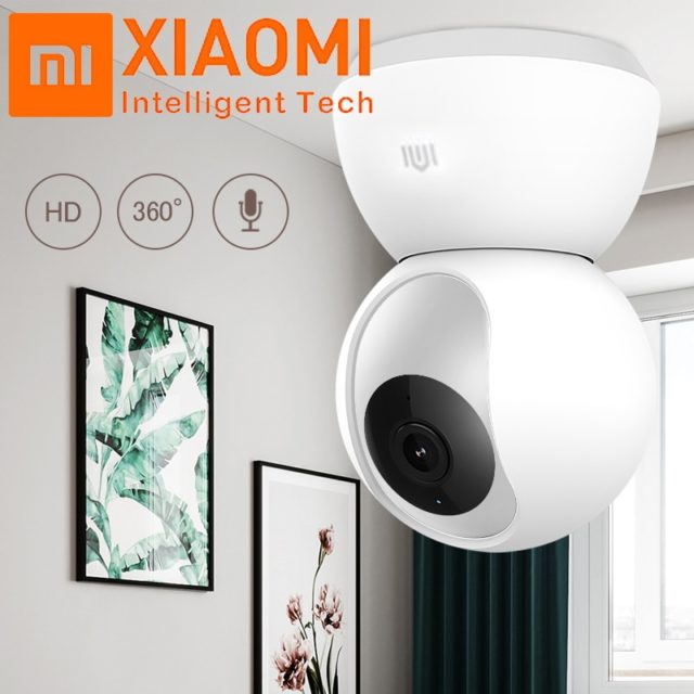 Original Xiaomi Mijia 1080P 360 Degrees Home Panoramic WiFi IP Cam Night Vision Smart Camera Webcam Camcorder AI Enhanced Motion