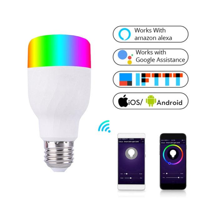 WiFi Smart Light Colorful LED Lamp APP Remote Control