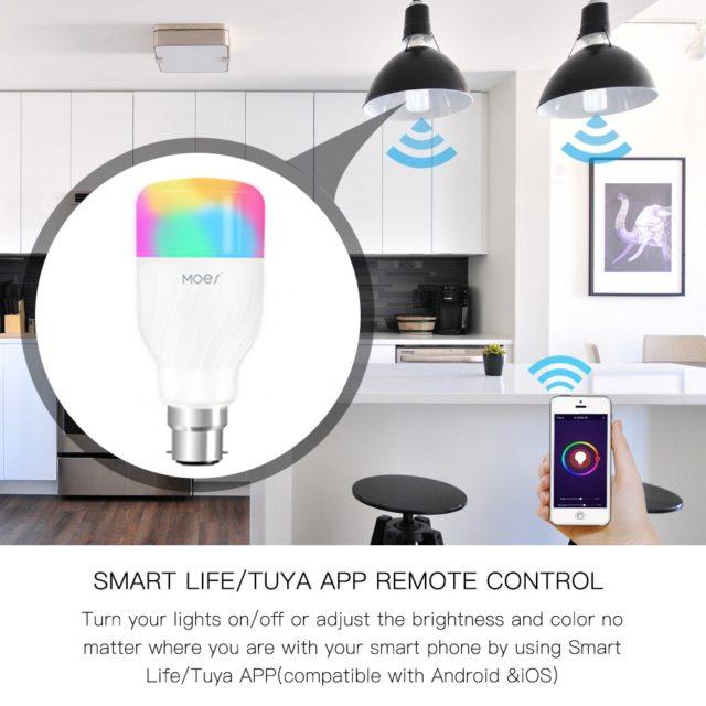 WiFi SmartLamp 7W RGBW APP Remote Control Alexa Google