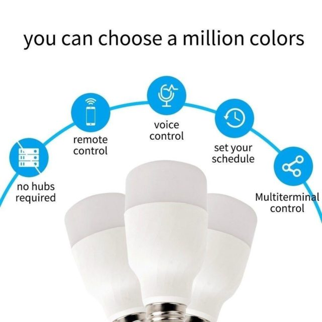 Voice Control Smart WiFi LED Light Amazon Alexa, Google Home
