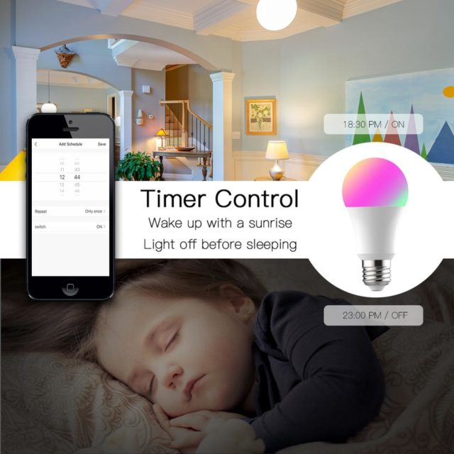 Smart light Wifi LED 7W 9W color change App control