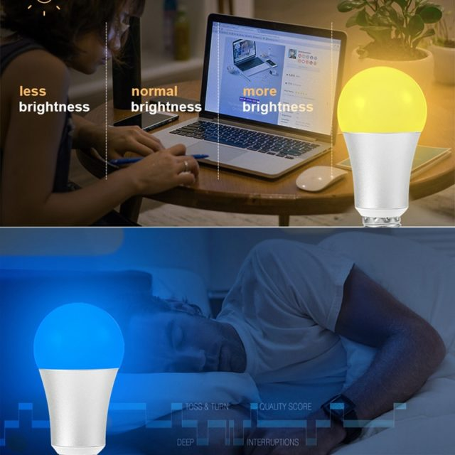 WIFI Smart RGB Color Changing Light Bulb Smart wifi Dimmable Work With Alexa