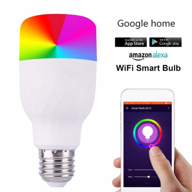 Smart WiFi Lamp  Works With Google Home Mini Alexa