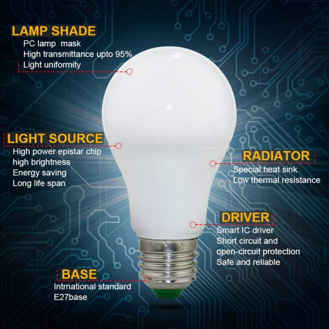 Smart Lamp 5W 10W 15W RGB Lamp Changeable Colorful Remote Control +Memory Mode